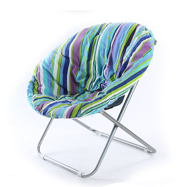 Foldable Saucer Moon Chair Dorm Club Chair Half Round Soft Comfortable Short Plush Faux Fur Padded Seat for Adult or Teens