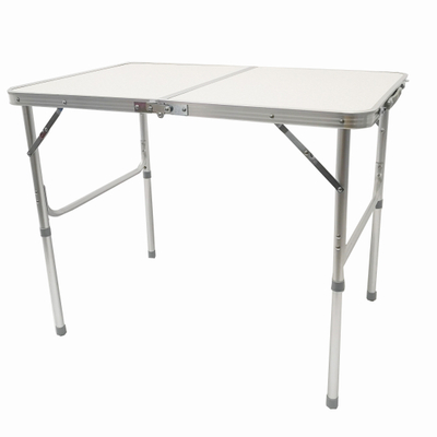 Aluminum Camping Folding Camp Table with Carrying Handle,4 Adjustable Heights Feet