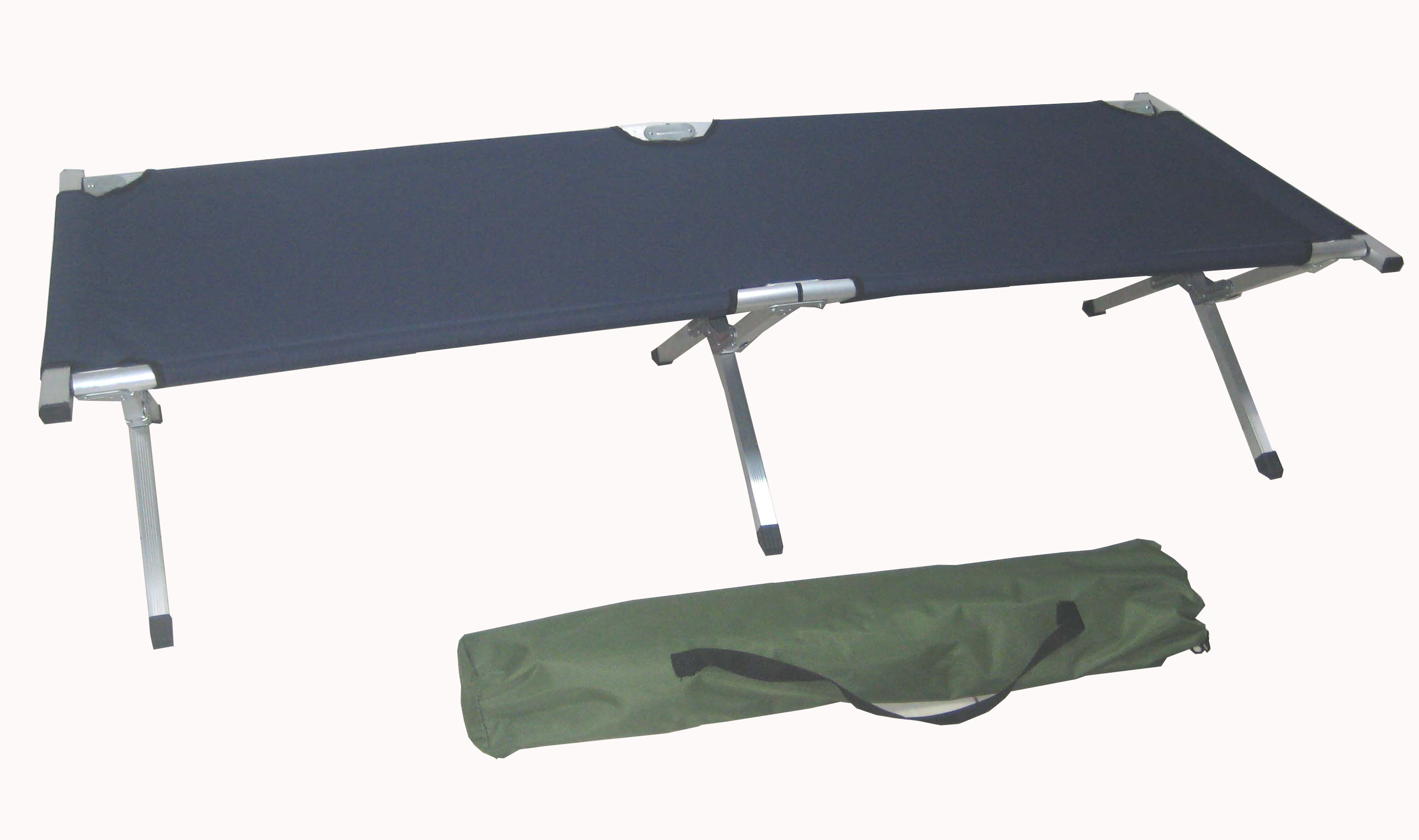 600D Polyester Lightweight Metal Travel Folding Bed Military Army Cots Camping Bed