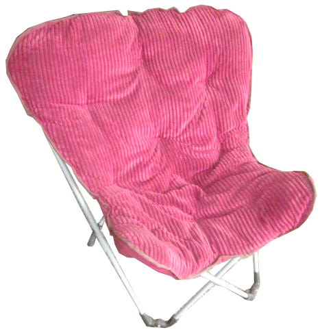 Folding Front Short plush Fabric Butterfly chair