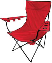Outdoor Giant Kingpin Folding Chair Chair Hunter Camouflage With 6 Cup Holders Cooler Bag And Portable Carrying Case (Red)