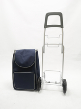 Lightweight Wheeled Shopping Trolley Bag - Heavy Duty Collapsible Rolling Cart