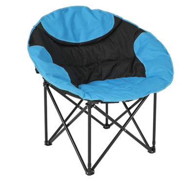 Oversized Large Folding Moon Chair Round Seat Living Room (Blue) by Sunshine