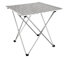 Factory supplier aluminum folding table, metal table and chair for outdoor use