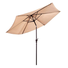 9 Ft Market Outdoor Aluminum Table Patio Umbrella with Push Button Tilt and Crank